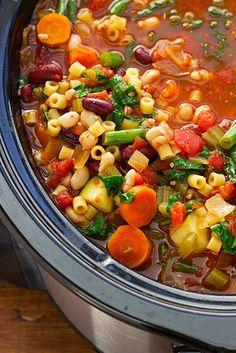 Homemade Minestrone Soup | 21 Crock Pot Dump Dinners For Winter