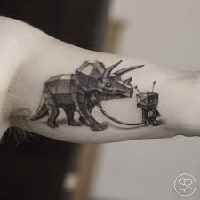 Image result for watercolor dinosaur tattoos
