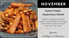 Holiday Dates, Pomegranate, Sweet Potato, Carrots, Celebrations, Peanut Butter, Bacon, Potatoes, Holidays