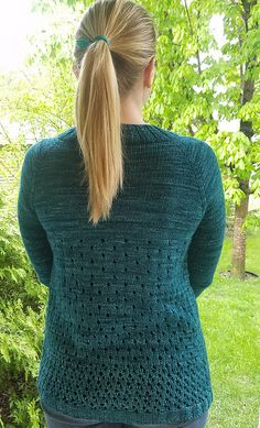 Campside Cardi by Alicia Plummer, knitted by tinliz25   malabrigo Rios in Teal Feather