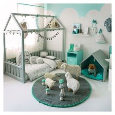 15 Reasons to Fall in Love with Floor Beds for Toddlers ❤ liked on Polyvore featuring home and children's room