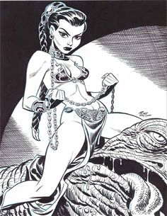 Bruce Timm - Slave Leia, in KevinOno's Bruce Timm (nudity) Comic Art Gallery Room - 182578