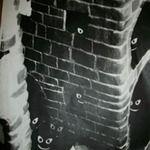 Bitey Cats in Castle Tower. Each tower has a secret.Farrell Hamann Fine Art, Plaster, sculpture. - via @Farrell Hamann