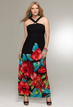 Floral Ring Maxi Dress