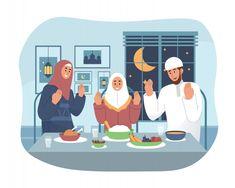 Ramadan with Character Stock Vectors, Images & Vector Art Family Illustration, Cute Illustration, Islamic Art Pattern, Pattern Art, Islamic People, Ramadan Poster, Muslim Ramadan, Ramadan Background, Quran Book