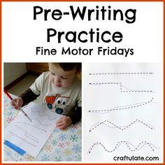 Pre-Writing Practice - Fine Motor Fridays - Craftulate