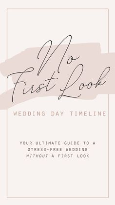 Not planning on doing a first look? Here's your guide to creating a stress-free wedding day timeline without doing a first look! Wedding Day Timeline, Wedding Advice, Wedding Planning Tips, Wedding Pics, Our Wedding, Wedding Ceremony Outline, Wedding Day Itinerary, Wedding Schedule, Wedding Signage