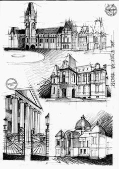 Arhitectura romanica: Romanic capitels Church of Holy Apostles - Koln Vezelay Abbey - interior Cathedral of St. Roman Architecture, Renaissance Architecture, Architecture Drawings, Historical Architecture, Classic Architecture, Line Drawing, Drawing Sketches, Drawing Tips, Dress Sketches