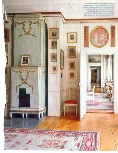 Soggiorno gustaviano / Gustavian living-room (http://www.decoratour.com/gustavian-style-veranda-nov-2011/)