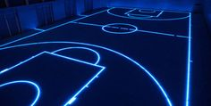 GlassFloor / from ASB & KINON Porz in Cologne. can be tailored to most indoor sports. via Feel Desain #LED #sports