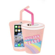 Skinny Dip 'Unicorn Tears' iPhone 6 Case found on Polyvore