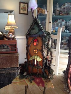 """when I become inspired ~ stuff like this is created = ) My happy little """"Laugh: fairy house ."""