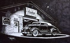 CUSTOMS by KEITH WEESNER The Custom Car and Hot Rod world Keith Weesner creates in his paintings and black and white artwork is as close to perfection as it can get. Keith Weesner is a profesional full time artist from Thousand Oaks, California. He creates beautiful paintings of Hot Rods, Custom Cars, Race Cars …