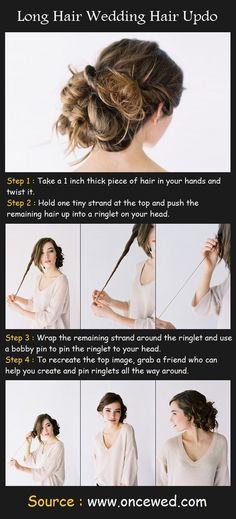 Long Hair Wedding Hair Updo