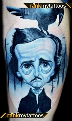 Seriously considering an Edgar Allan Poe tattoo.