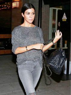Kourtney Kardashian Proves Monochrome Dressing Is Easy as Pie