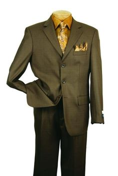 Men's Single Breasted 3 button Olive affordable suit online sale | MensITALY  Price: US $139