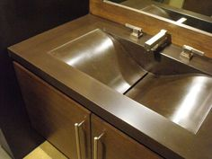 Polished Concrete Sink by stogsconcretedesign on Etsy $375.00