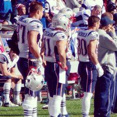 Rob Gronkowski, Julian Edelman, & Danny Amendola....3 of my top 4 favorite Patriots!