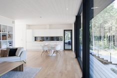 Wooden Summer Villa in Finland by Haroma & Partners Country Modern Home, Small Modern Home, Interior Architecture, Interior And Exterior, Inside A House, Villa, Interior Decorating, Interior Design, Cabana