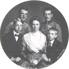 Archduchess Marie Valerie of Austria (1868-1924) and her four sons.