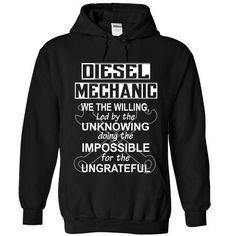 I Love WILLING DIESEL MECHANIC T shirts
