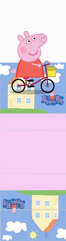 George and Peppa Pig: Free Printable Original Nuggets or Gum Wrappers.