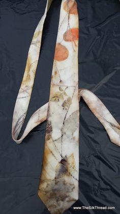 Eco-printed silk tie! By TheSilkThread.com