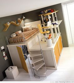 Space Saving Furniture - would need a full or queen bed for sleeping & the closet space :)