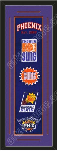 Heritage Banner Of Phoenix Suns With Team Color Double Matting-Framed Awesome & Beautiful-Must For A Championship Team Fan! Most NBA Team Banners Available-Plz Go Through Description & Mention In Gift Message If Need A different Team Art and More, Davenport, IA http://www.amazon.com/dp/B00F3UKGZG/ref=cm_sw_r_pi_dp_mGJJub1BTWGFN