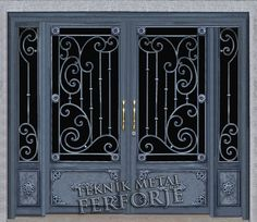 Grill Gate Design, Steel Gate Design, Front Gate Design, Window Grill Design, House Window Design, House Gate Design, Door Gate Design, Garage Door Design, Wrought Iron Security Doors