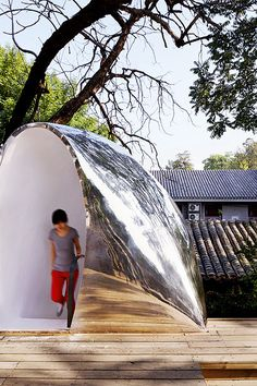 Discover our #picoftheweek: Ma Yansong MAD Architects' #hutongbubble found on Icon Photo: Shu He #mirror #nature #reflexion #architecture