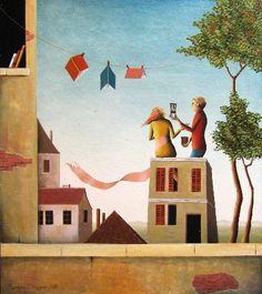 Books and love the wind / Libros y amor al viento (ilustración de Barbara Issa)