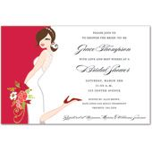 Red Bridal Shower Invitations, 34701