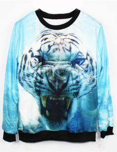 Tiger Pattern T-shirt