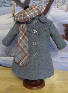 """Winter Wools"" Classic Coat, Tam and Scarf by Keepersdollyduds"