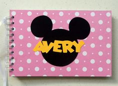 DISNEY AUTOGRAPH BOOK your custom name and color on Etsy, $20.00