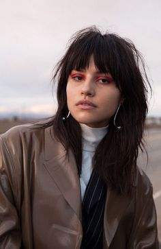 25 Best Long Layered Hairstyles for Women in 2021 - The Trend Spotter Mullet Haircut, Mullet Hairstyle, Long Shag Haircut, Hairstyles With Bangs, Pretty Hairstyles, Shag Hairstyles, Layered Hairstyles, Pelo Guay, Hair Inspo