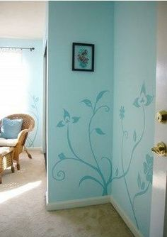 I love this simple idea to add a bit of drama to a space.  http://paintingideas1.blogspot.com/2010/03/wall-painting-ideas.html