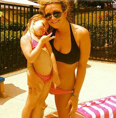 Love this swimsuit. Jamie Lynn Spears and her daughter, Maddie