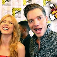 In the press room at Comic-Con 2017 in San Diego, Katherine McNamara and Dominic Sherwood share their excitement with AccessHollywood.com about Sarah Hyland joining the cast as the Seelie Queen. And, just how dark will the new season get?