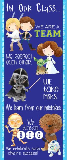 STAR WARS theme - Character Education Classroom Banner / LARGE / In Our School…