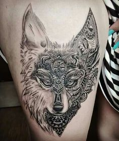 #Tattoo #ornamental #wolf #