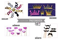Photobooth-Props als Freebie zum download