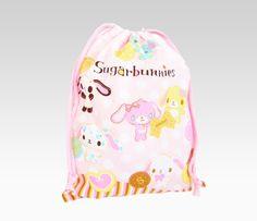 Sugarbunnies Drawstring Bag: Biscuit
