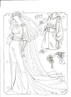 Brides Paper Dolls: 1935 by Charles Ventura (7 of 24) | Cindy Rice | Picasa Webalbum