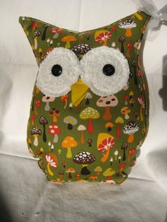 Hooters Stuffed Owl Pillow Shroom by sweetpitas on Etsy, $14.00