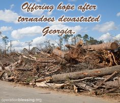 A huge THANK YOU to all of the #volunteers who have come out to help their neighbors in need in Albany, Georgia. So far, Operation Blessing has been able to send out 848 volunteers and process 315 work orders. This is truly a precious gift to those who lost so much in the tornado. #USA #volunteer