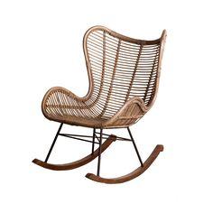 Het Kabinet - Schommelstoel Lise Rattan Rocking Chair, Bamboo Furniture, Girls Bedroom, Baby Room, Outdoor Living, Monochrome, Sweet Home, New Homes, Living Room