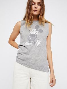 Mickey Mouse Tank by Disney Collection x David Lerner